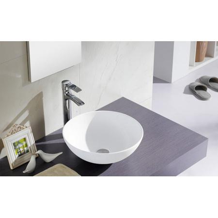 Bathco Sicilia Umywalka nablatowa okrągła 40x15 cm, biała 4069