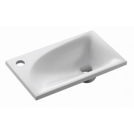 Bathco Somo Umywalka wpuszczana w blat 42x25x12 cm dolomitowa, biała 0546