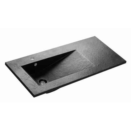 Bathco Tecno Pizarra Umywalka wpuszczana w blat 100x45x16,5 cm dolomitowa, czarna 0569
