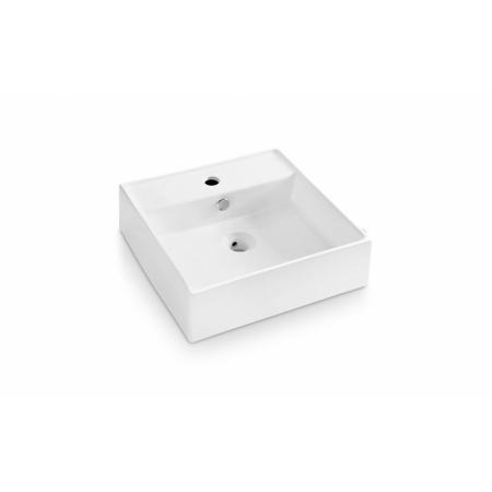 Bathco Tenerife Umywalka nablatowa 46,5x46,5x14 cm, biała 0017