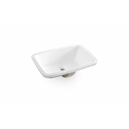 Bathco Torino B Umywalka podblatowa 51x32x18 cm, biała 0051B
