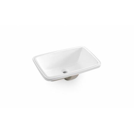 Bathco Torino Umywalka podblatowa 51x38x19,5 cm, biała 0051