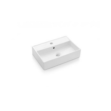 Bathco Turin Umywalka nablatowa 50x35x12 cm, biała 0017B