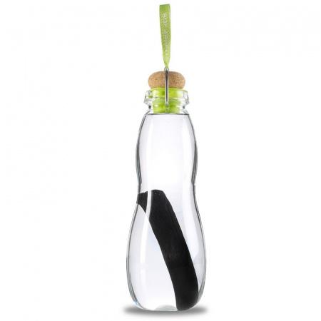 Black+Blum Butelka na wodę 9x9x25,3 cm, seledynowa w pokrowcu EGG002