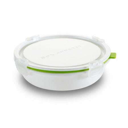 Black+Blum Pojemnik na posiłki 18x18x5,5 cm, biały/zielony BAP-RD-S001