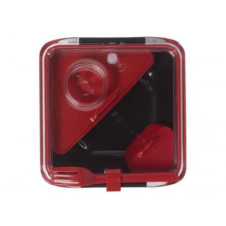 Black+Blum Pojemnik na posiłki 19x19x5,5 cm, czarny/czerwony BA004