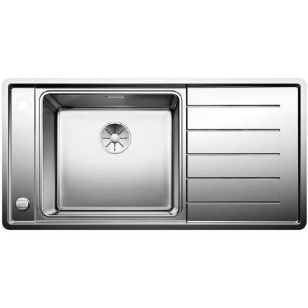 Blanco Andano XL 6 S-IF Zlewozmywak stalowy jednokomorowy 100x50 cm lewa komora, z ociekaczem, z korkiem automatycznym i z akcesoriami, stalowy 523000