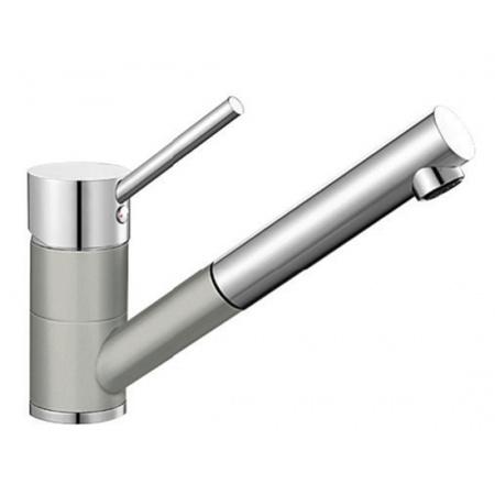 Blanco Antas-S Silgranit-Look Jednouchwytowa bateria kuchenna stojąca, perłowoszara/chrom 520733