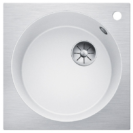 Blanco Artago 6 IF/A Steelframe Zlewozmywak granitowy Silgranit PuraDur jednokomorowy 51x51 cm bez korka automatycznego, biały 521767