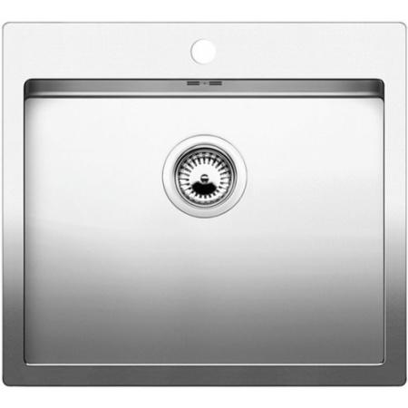 Blanco C-Style 500-IF/A Zlewozmywak stalowy jednokomorowy 56x51 cm, stal szczotkowana 522245