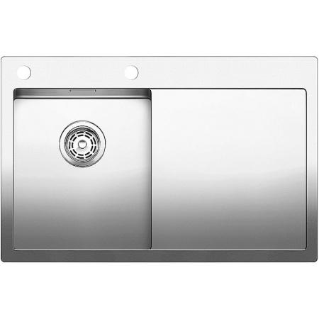 Blanco Claron 4 S-IF Zlewozmywak stalowy dwukomorowy78x51 cm lewy z korkiem automatycznym stalowy 521624