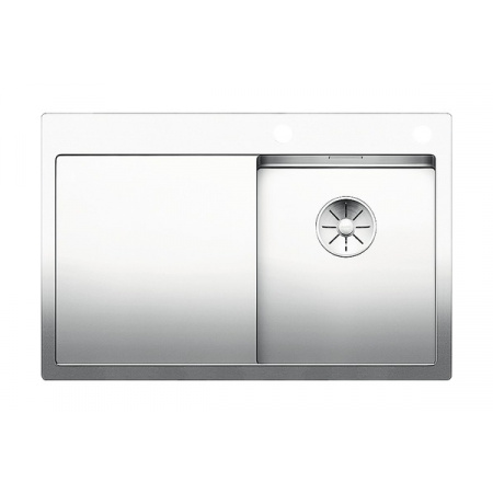 Blanco Claron 4 S-IF Zlewozmywak stalowy jednokomorowy 78x51 cm prawy z korkiem automatycznym stalowy 521623