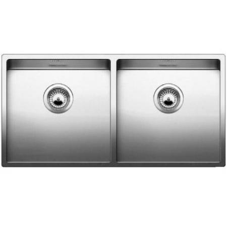 Blanco Claron 400/400-IF Zlewozmywak stalowy dwukomorowy 46x51 cm bez korka automatycznego, stalowy 521617