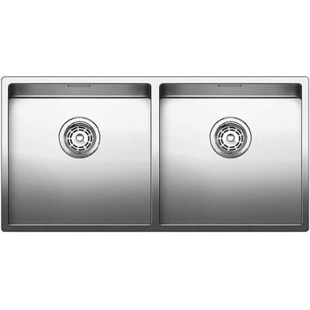 Blanco Claron 400/400-U Zlewozmywak stalowy dwukomorowy 86,5x44 cm bez korka automatycznego stalowy 521618