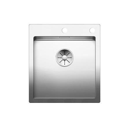 Blanco Claron 400-IF/A Zlewozmywak stalowy jednokomorowy 46x51 cm z korkiem automatycznym, stalowy 521632