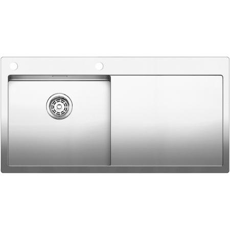 Blanco Claron 5 S-IF Zlewozmywak stalowy jednokomorowy 100x51 cm lewy z korkiem automatycznym stalowy 521626