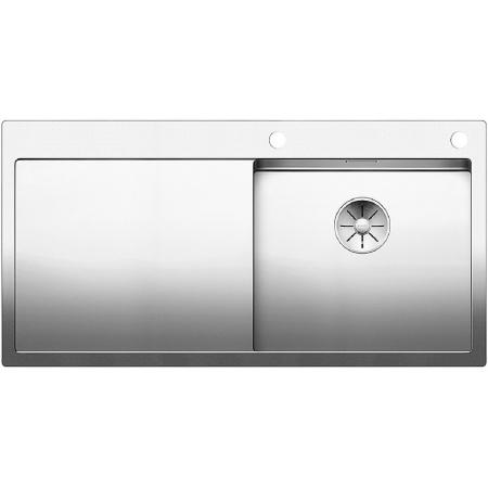 Blanco Claron 5 S-IF Zlewozmywak stalowy jednokomorowy 100x51 cm prawy z korkiem automatycznym stalowy 521625