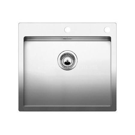 Blanco Claron 500-IF/A Zlewozmywak stalowy jednokomorowy 56x51 cm z korkiem automatycznym, stalowy 521633