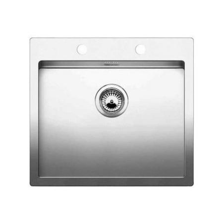 Blanco Claron 550-IF/A Zlewozmywak stalowy jednokomorowy 61x51 cm z korkiem automatycznym, stalowy 521639