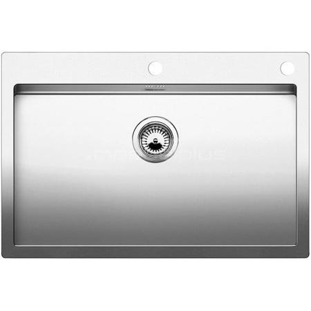 Blanco Claron 700-IF/A Zlewozmywak stalowy jednokomorowy 76x51 cm z korkiem automatycznym, stalowy 521634