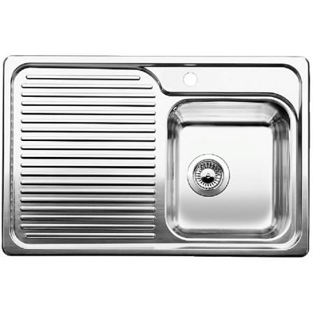 Blanco Classic 40 S Zlewozmywak stalowy jednokomorowy 78x51 cm prawy bez korka automatycznego stalowy 511124