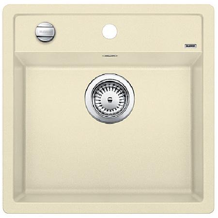 Blanco Dalago 5 Zlewozmywak granitowy Silgranit PuraDur jednokomorowy 51,5x51 cm z korkiem automatycznym, jaśminowy 518525