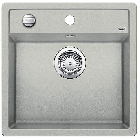 Blanco Dalago 5 Zlewozmywak granitowy Silgranit PuraDur jednokomorowy 51,5x51 cm z korkiem automatycznym, perłowoszary 520544