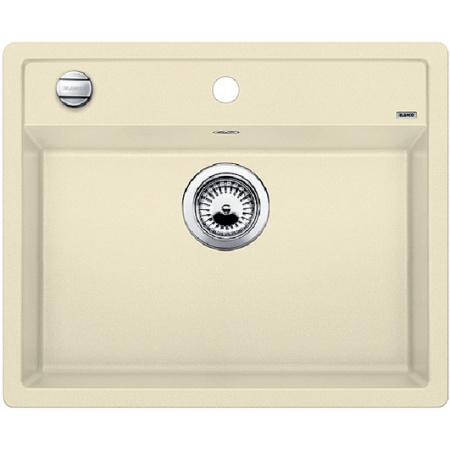 Blanco Dalago 6-F Zlewozmywak granitowy Silgranit PuraDur jednokomorowy 60,5x50 cm z korkiem automatycznym, jaśminowy 517657