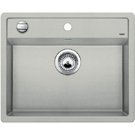 Blanco Dalago 6 Zlewozmywak granitowy Silgranit PuraDur jednokomorowy 61,5x51 cm z korkiem automatycznym, perłowoszary 520545