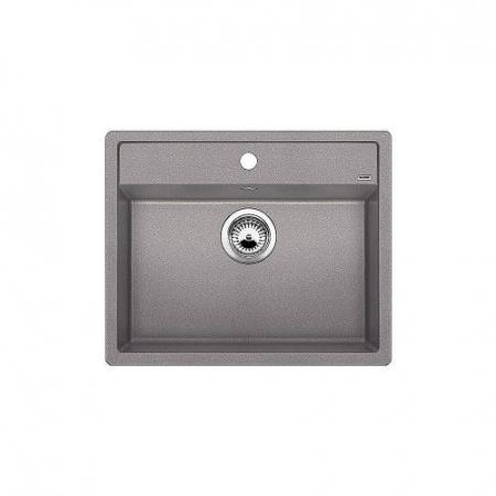 Blanco Dalago 6 Zlewozmywak granitowy Silgranit PuraDur jednokomorowy 61,5x51 cm bez korka automatycznego, alumetalik 519496