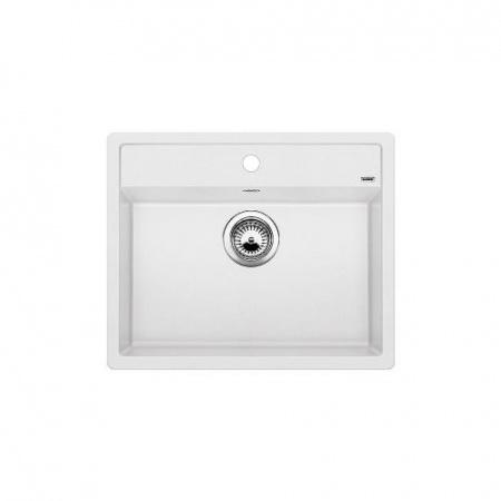 Blanco Dalago 6 Zlewozmywak granitowy Silgranit PuraDur jednokomorowy 61,5x51 cm bez korka automatycznego, biały 519497