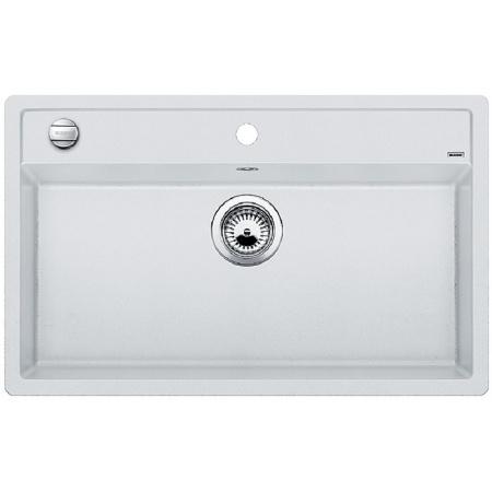 Blanco Dalago 8-F Zlewozmywak granitowy Silgranit PuraDur jednokomorowy 80,5x50 cm z korkiem automatycznym, biały 516644
