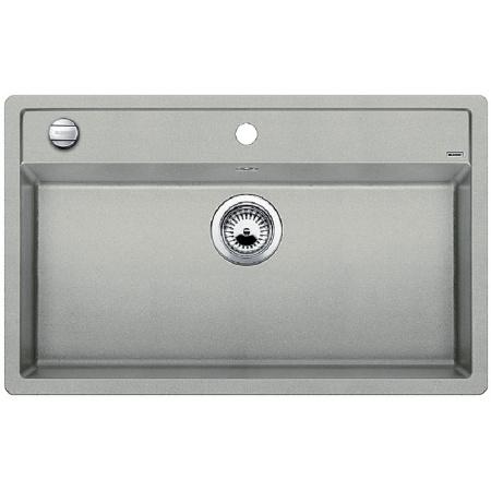 Blanco Dalago 8 Zlewozmywak granitowy Silgranit PuraDur jednokomorowy 81,5x51 cm z korkiem automatycznym, perłowoszary 520546