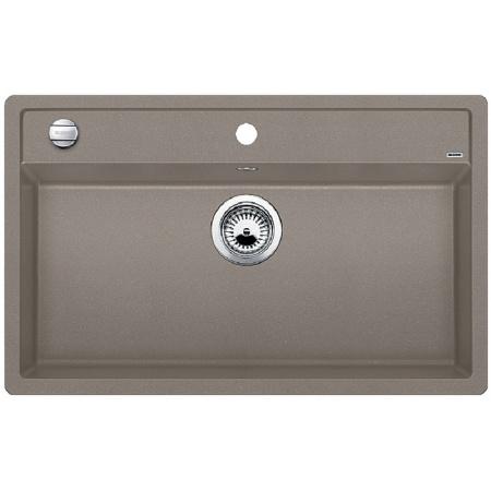 Blanco Dalago 8 Zlewozmywak granitowy Silgranit PuraDur jednokomorowy 81,5x51 cm z korkiem automatycznym, tartufo 517323