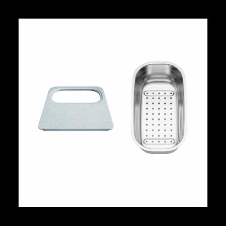 Blanco Dana Zestaw akcesoriów deska z tworzywa i odsączarka stalowa, 236286