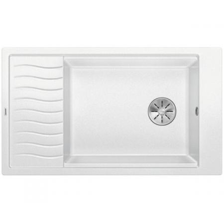 Blanco Elon XL 8 S Silgranit PuraDur Zlewozmywak granitowy jednokomorowy 86x50 cm z korkiem InFino biały 524874