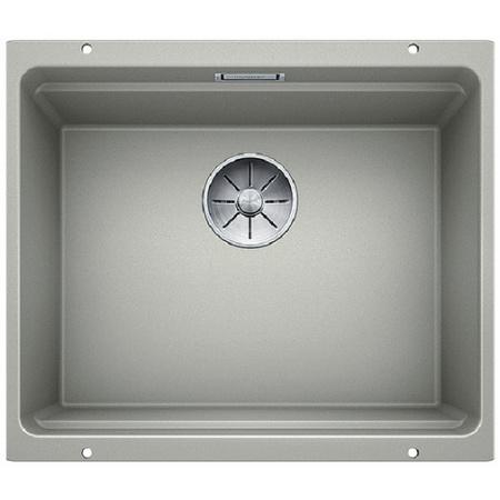 Blanco Etagon 500-U Zlewozmywak granitowy Silgranit PuraDur jednokomorowy 53x46 cm bez korka automatycznego perłowoszary 522230