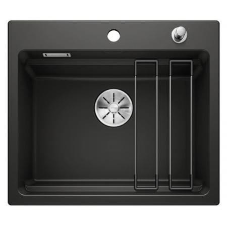 Blanco Etagon 6 Ceramika PuraPlus Zlewozmywak ceramiczny jednokomorowy 58,4x51 cm z korkiem automatycznym InFino czarny 525162