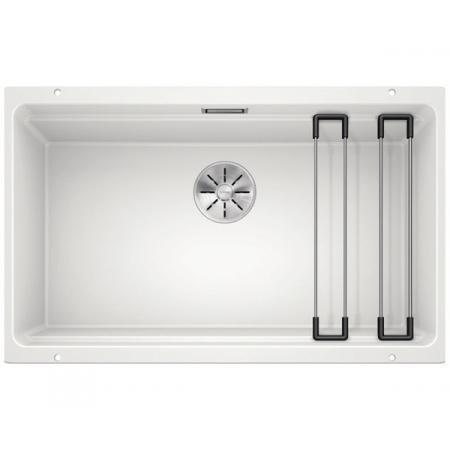 Blanco Etagon 700-U Silgranit PuraDur Zlewozmywak granitowy jednokomorowy 73x46 cm z korkiem InFino biały 525171
