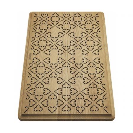 Blanco Faron XL 6 S Deska drewniana z ornamentem 46,5x28,5 cm jesionowy 237591