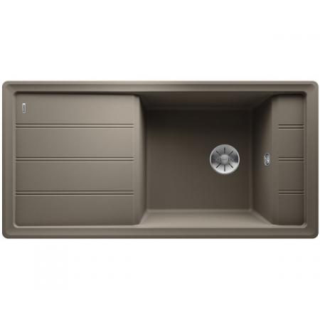 Blanco Faron XL 6 S Silgranit PuraDur Zlewozmywak granitowy jednokomorowy 100x50 cm odwracalny, wpuszczany w blat, z korkiem InFino, z ociekaczem, tartufo 524810