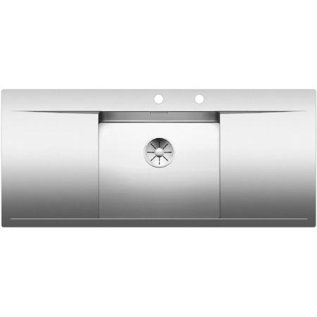 Blanco Flow 5 S-IF Zlewozmywak stalowy jednokomorowy 116x51 cm z ociekaczem, z korkiem automatycznym, stalowy 521637