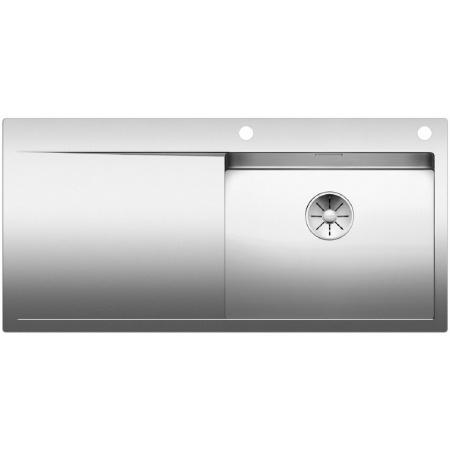 Blanco Flow XL 6 S-IF Zlewozmywak stalowy jednokomorowy 106x51 cm z ociekaczem, z korkiem automatycznym, stalowy 521640