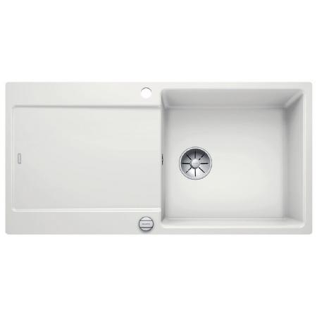 Blanco Idento XL 6 S-F Zlewozmywak ceramiczny jednokomorowy 97,6x48,6 cm z ociekaczem, z korkiem automatycznym, z powłoką PuraPlus, biały z połyskiem 522277