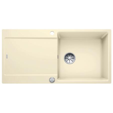 Blanco Idento XL 6 S-F Zlewozmywak ceramiczny jednokomorowy 97,6x48,6 cmz ociekaczem, z korkiem automatycznym, z powłoką PuraPlus, magnoliowy z połyskiem 522278