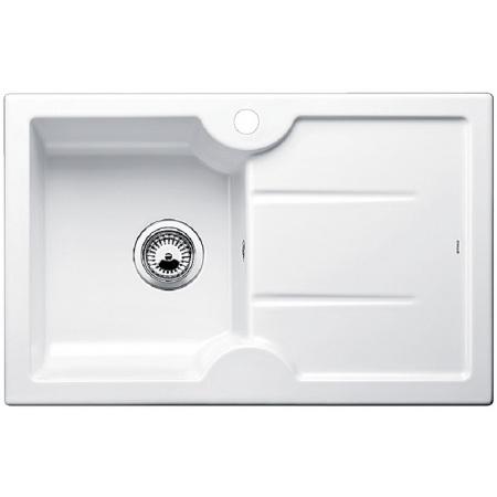 Blanco Idessa 45 S Zlewozmywak ceramiczny jednokomorowy 78x50 cm lewa komora, z ociekaczem, bez korka automatycznego, biały z połyskiem 514497