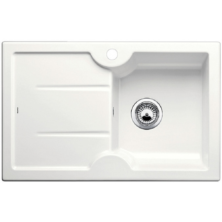 Blanco Idessa 45 S Zlewozmywak ceramiczny jednokomorowy 78x50 cm prawa komora, z ociekaczem, bez korka automatycznego, biały z połyskiem 514498
