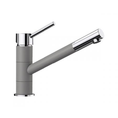 Blanco Kano Silgranit-Look Jednouchwytowa bateria kuchenna stojąca, alumetalik/chrom 525029