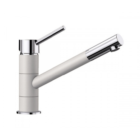 Blanco Kano Silgranit-Look Jednouchwytowa bateria kuchenna stojąca, biały/chrom 525030