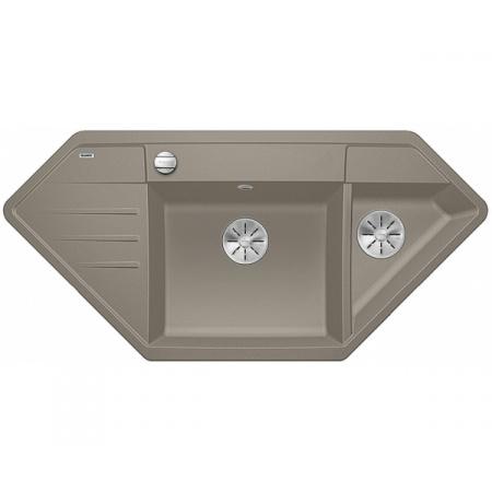 Blanco Lexa 9 E Silgranit PuraDur Zlewozmywak granitowy półtorakomorowy 107x51 cm z korkiem automatycznym InFino tartufo 524997